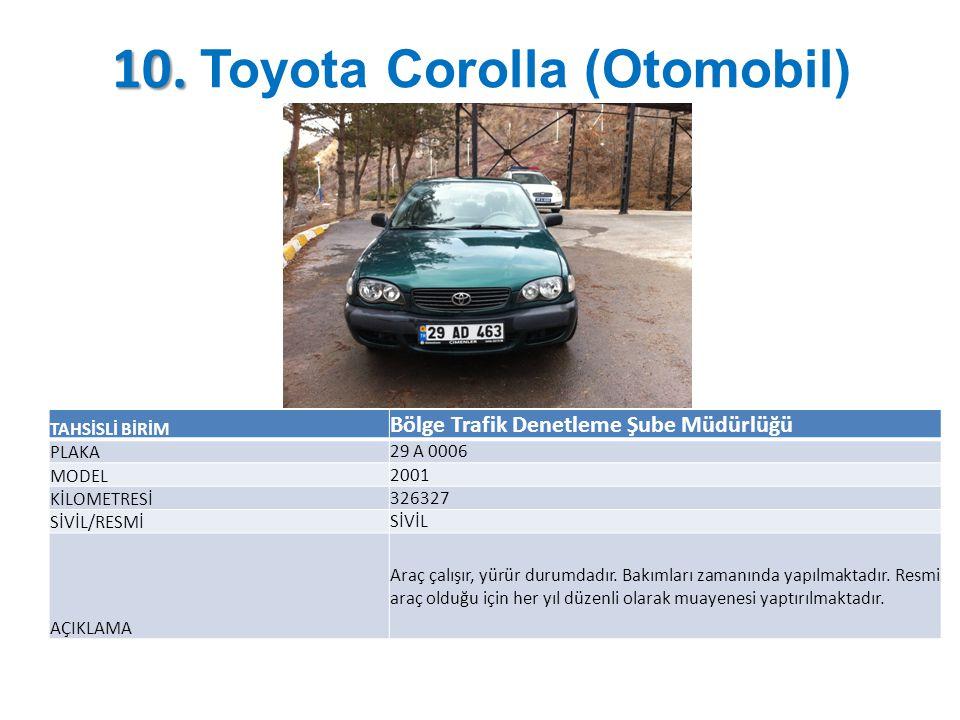10. Toyota Corolla (Otomobil)