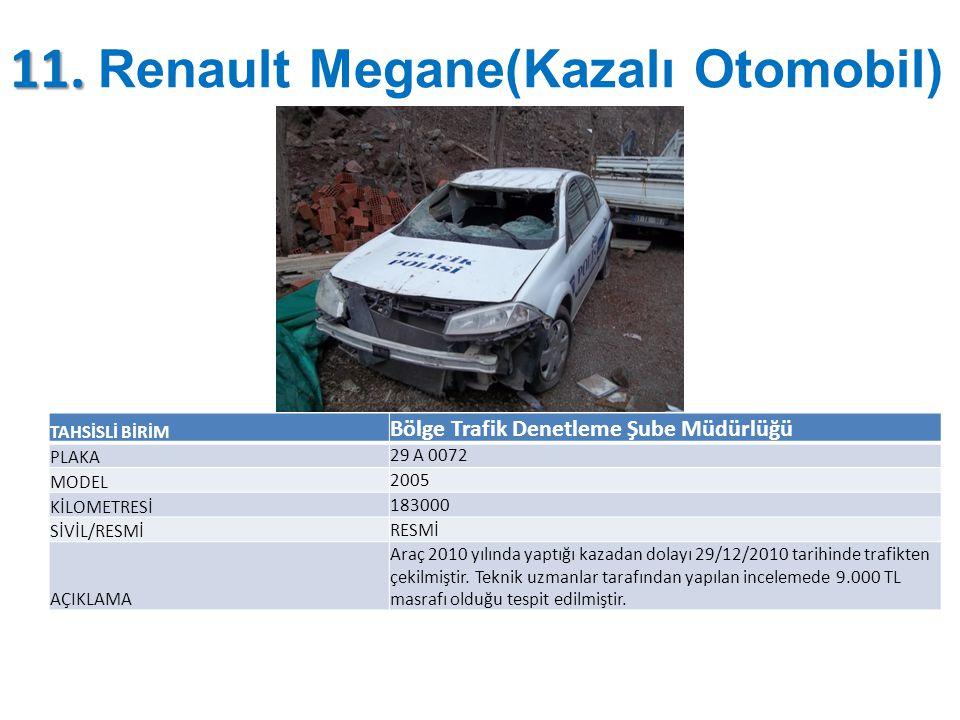 11. Renault Megane(Kazalı Otomobil)