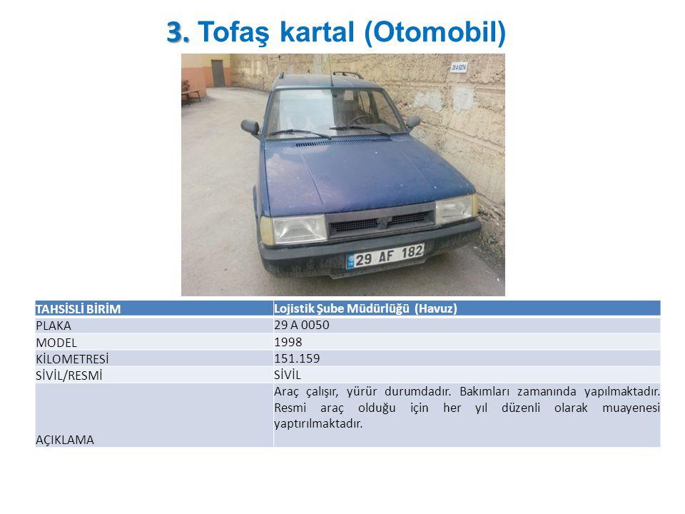 3. Tofaş kartal (Otomobil)