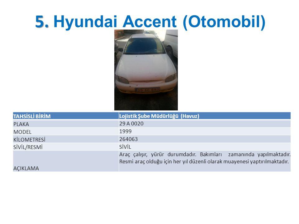 5. Hyundai Accent (Otomobil)