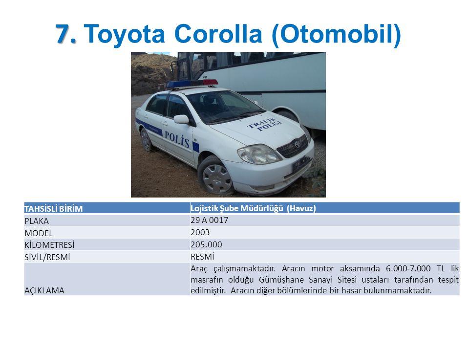 7. Toyota Corolla (Otomobil)