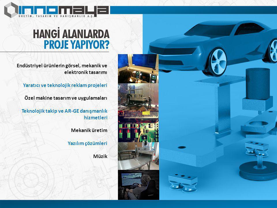 Endüstriyel ürünlerin görsel, mekanik ve elektronik tasarımı