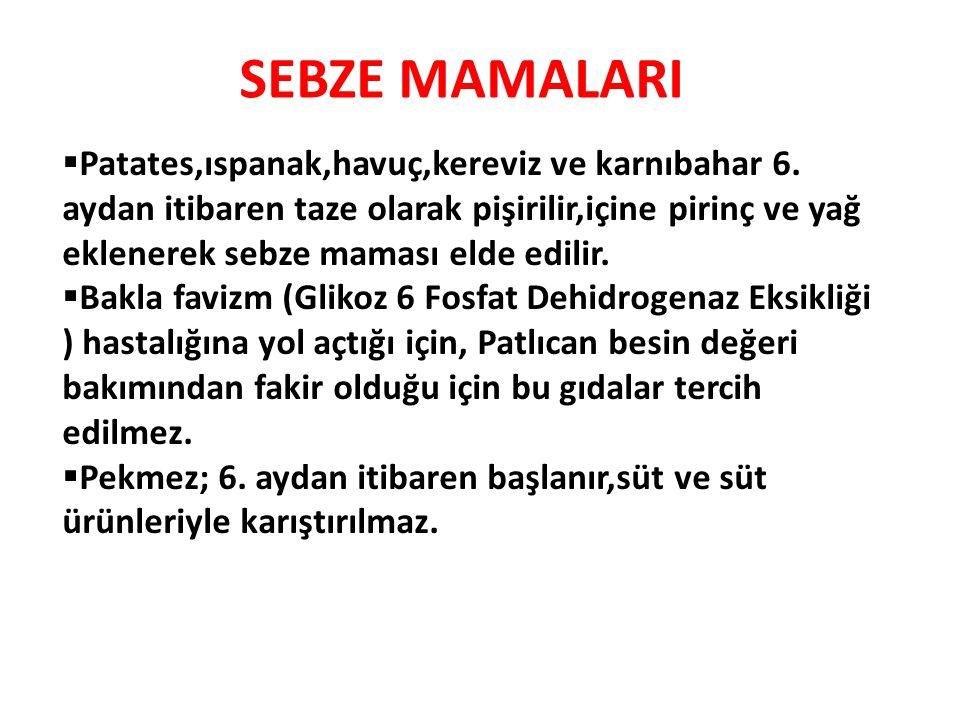 SEBZE MAMALARI