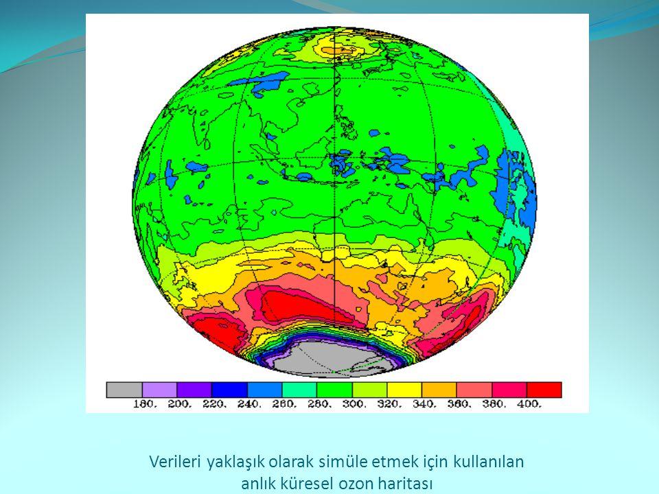 Verileri yaklaşık olarak simüle etmek için kullanılan anlık küresel ozon haritası