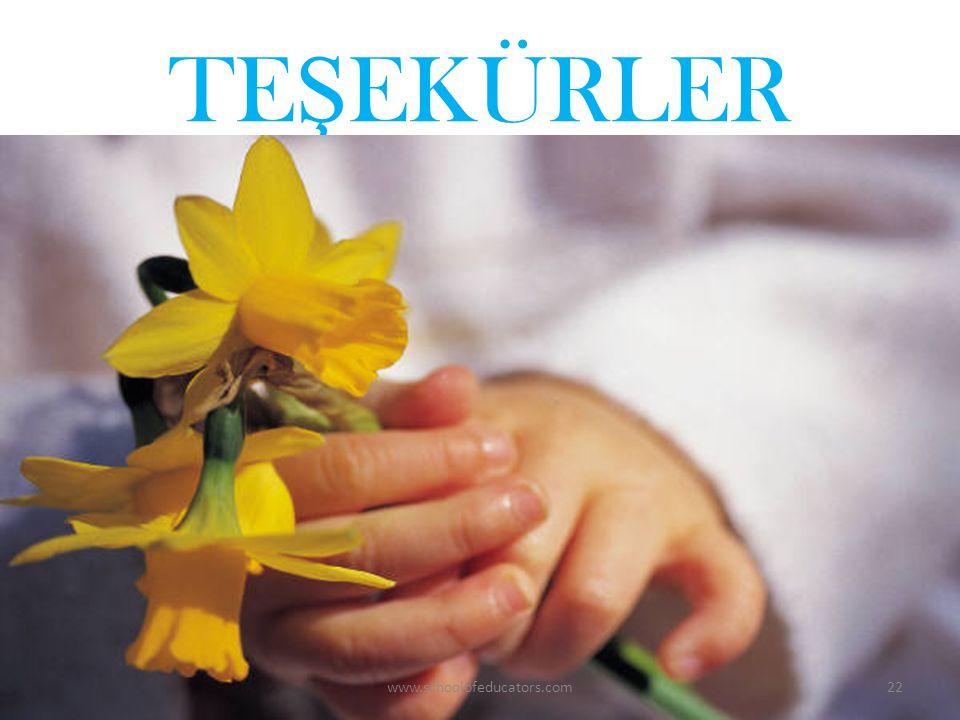 TEŞEKÜRLER www.schoolofeducators.com