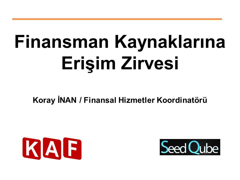 Finansman Kaynaklarına Koray İNAN / Finansal Hizmetler Koordinatörü