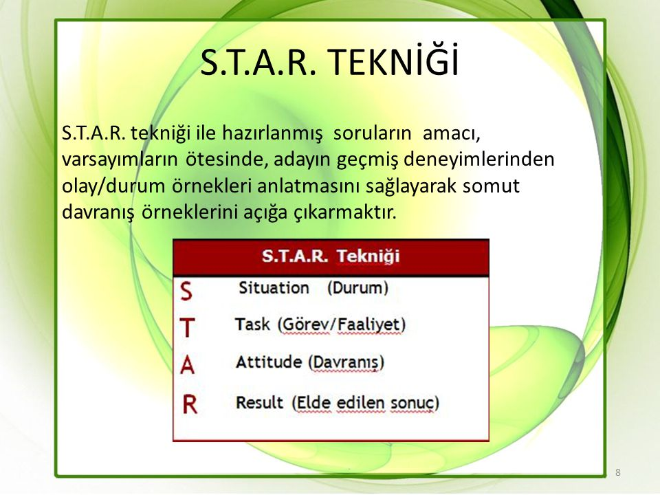 S.T.A.R. TEKNİĞİ