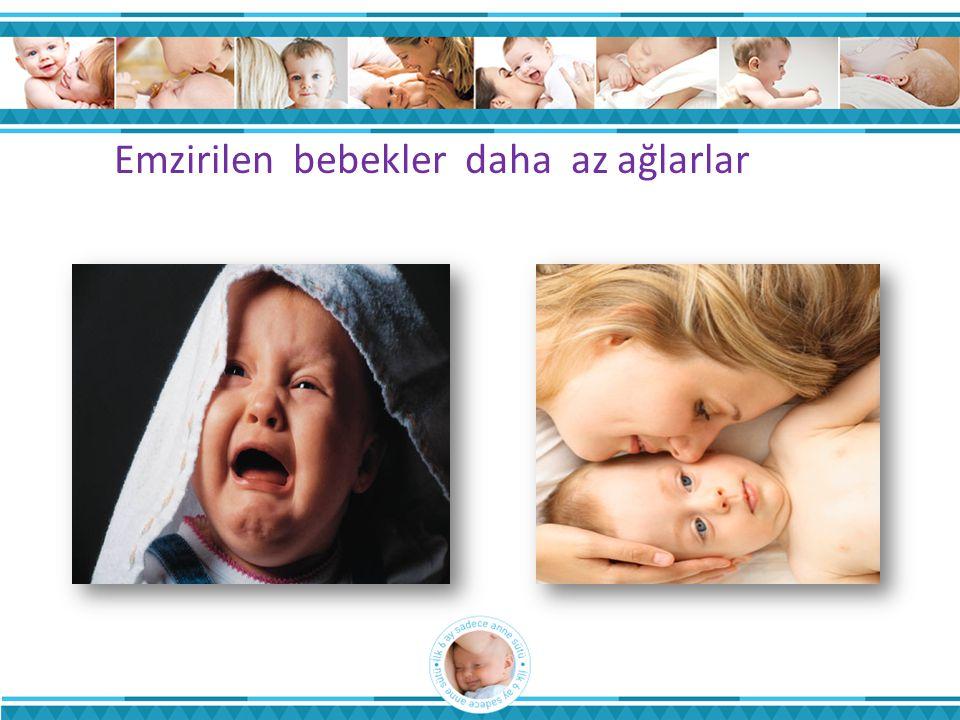 Emzirilen bebekler daha az ağlarlar
