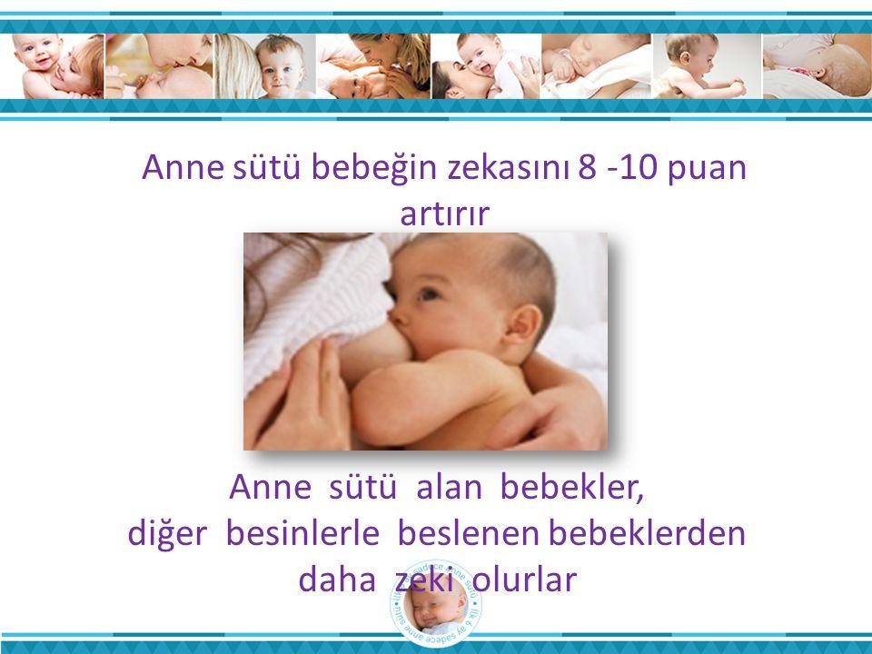 Anne sütü bebeğin zekasını 8 -10 puan artırır