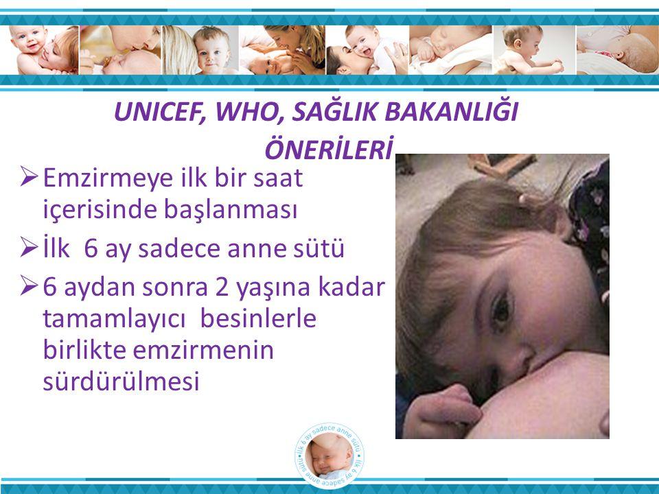 UNICEF, WHO, SAĞLIK BAKANLIĞI