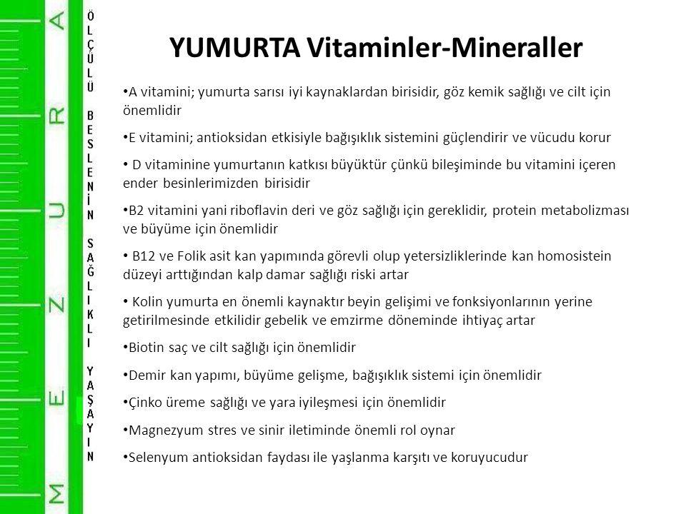YUMURTA Vitaminler-Mineraller