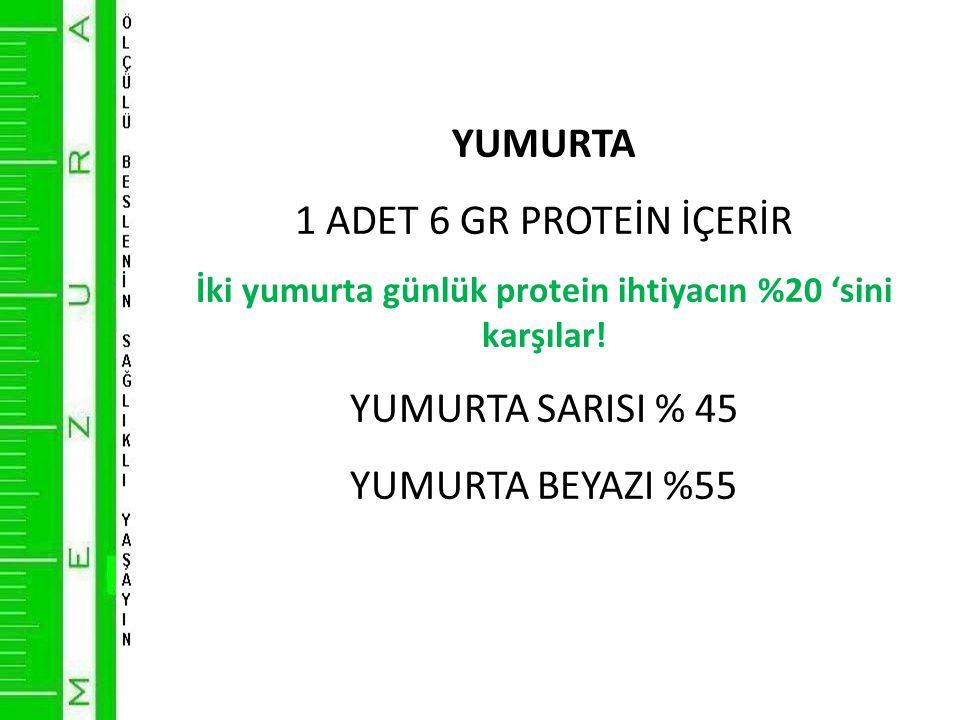 İki yumurta günlük protein ihtiyacın %20 'sini karşılar!
