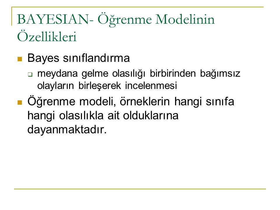 BAYESIAN- Öğrenme Modelinin Özellikleri