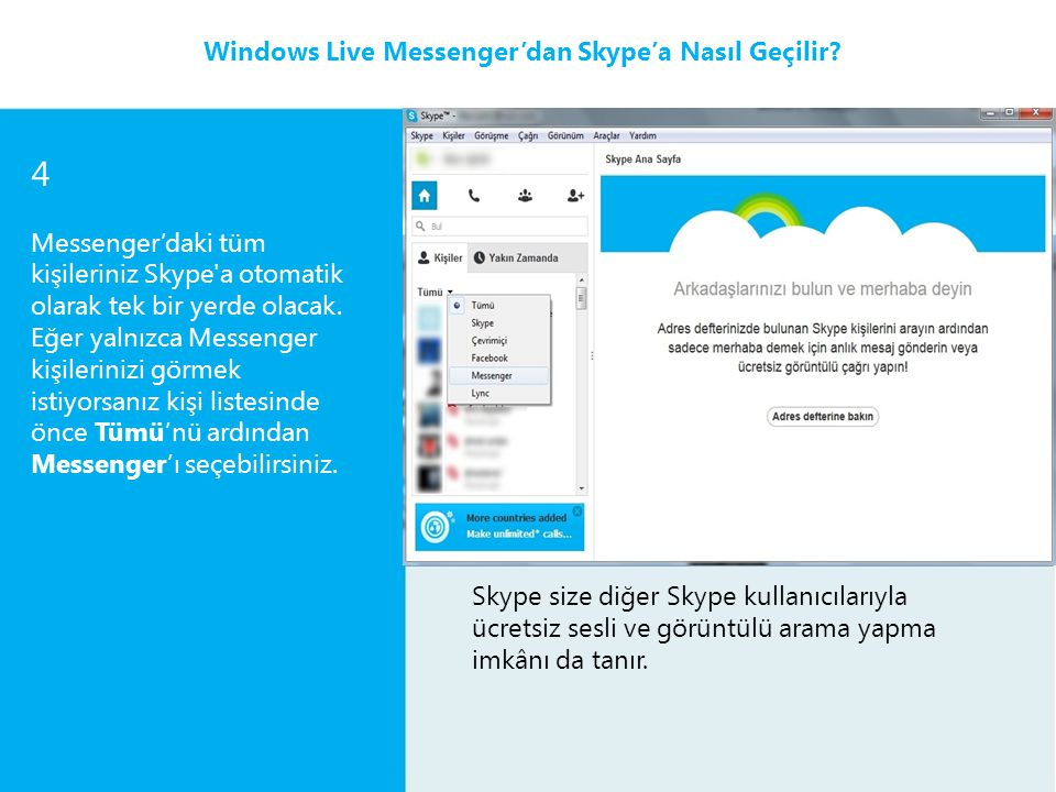 4 2 Windows Live Messenger'dan Skype'a Nasıl Geçilir