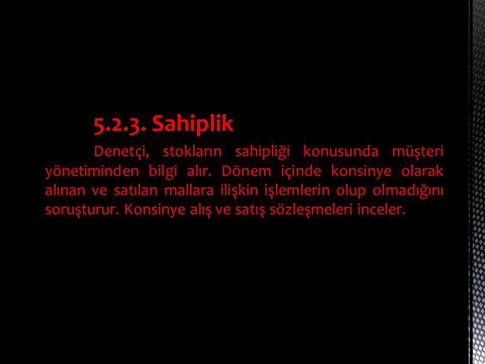 5.2.3. Sahiplik