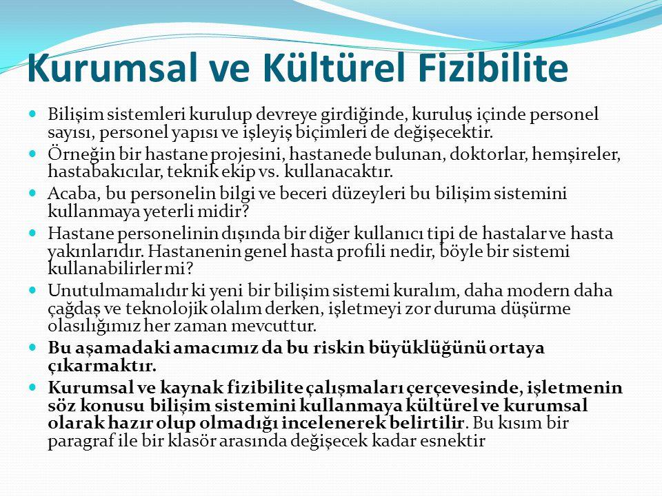 Kurumsal ve Kültürel Fizibilite