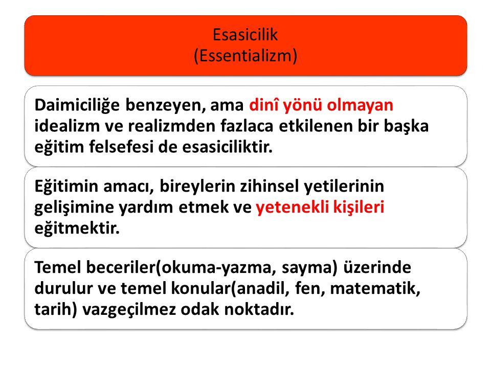 Esasicilik (Essentializm)