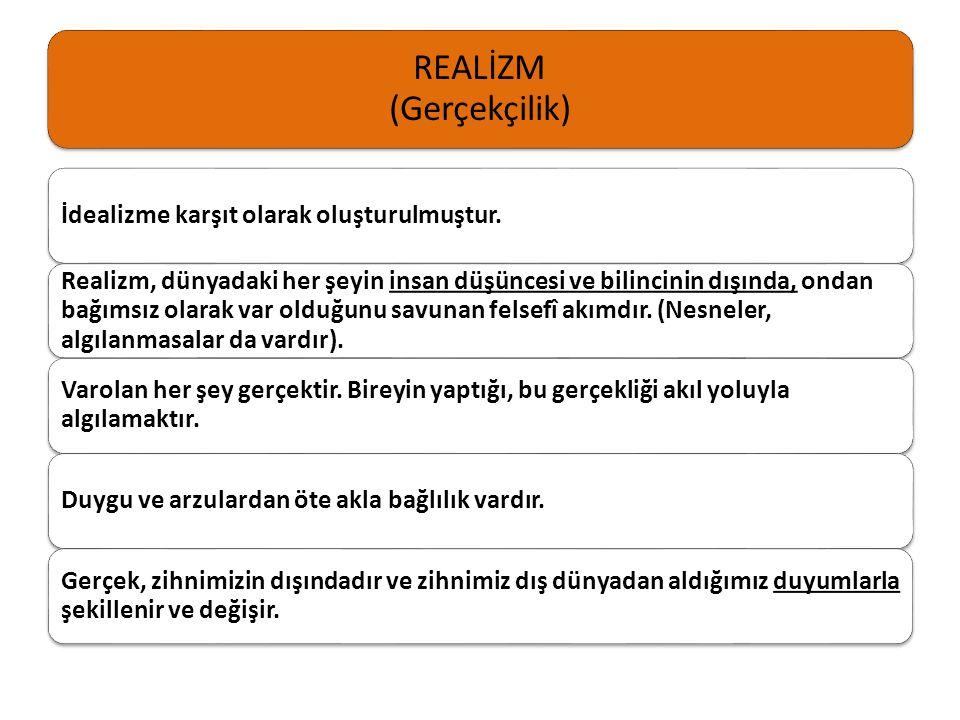 REALİZM (Gerçekçilik)