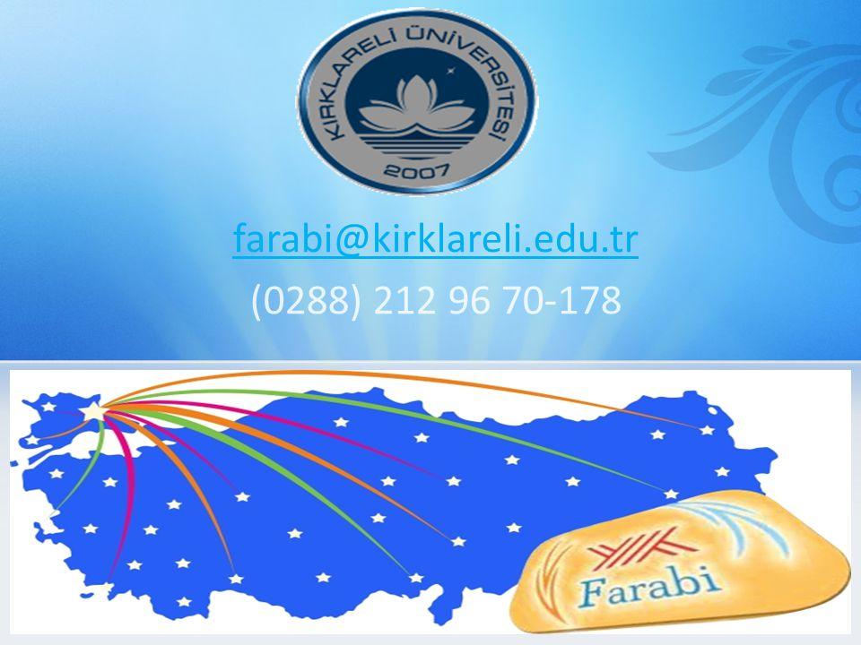 farabi@kirklareli.edu.tr (0288) 212 96 70-178