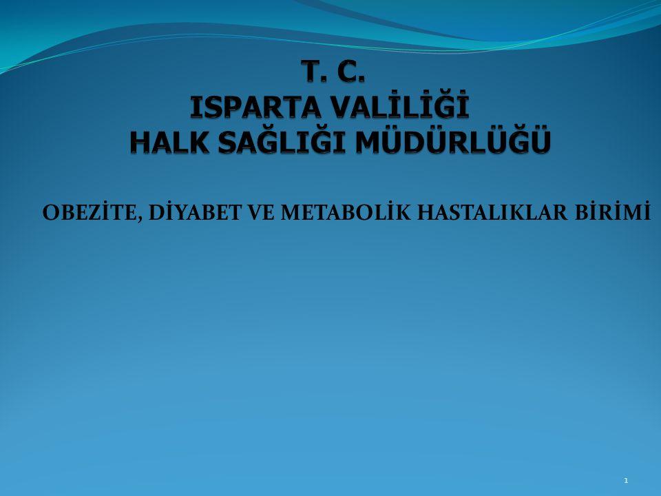 T. C. ISPARTA VALİLİĞİ HALK SAĞLIĞI MÜDÜRLÜĞÜ