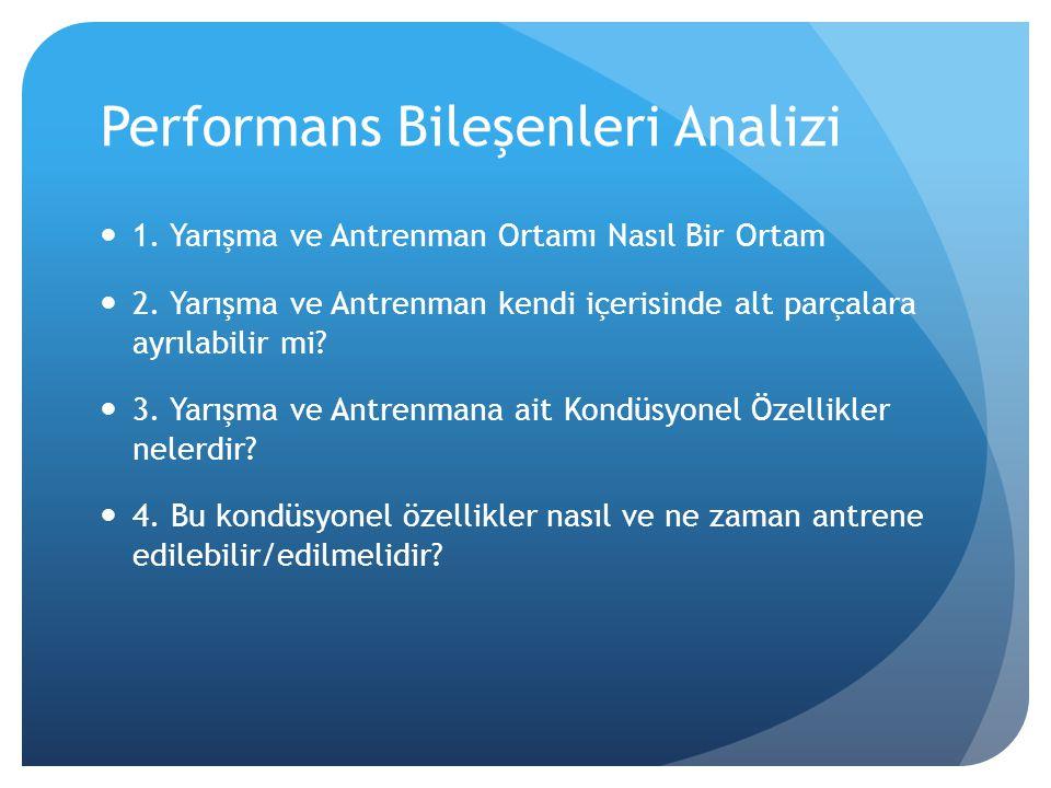 Performans Bileşenleri Analizi