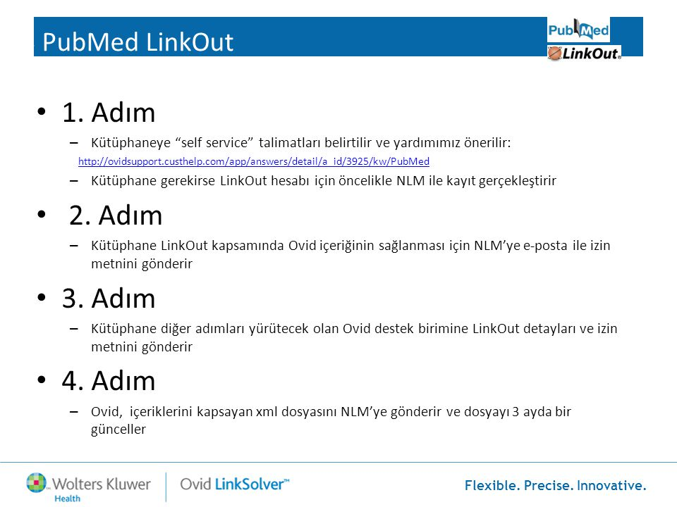 1. Adım 2. Adım 3. Adım 4. Adım 3 PubMed LinkOut