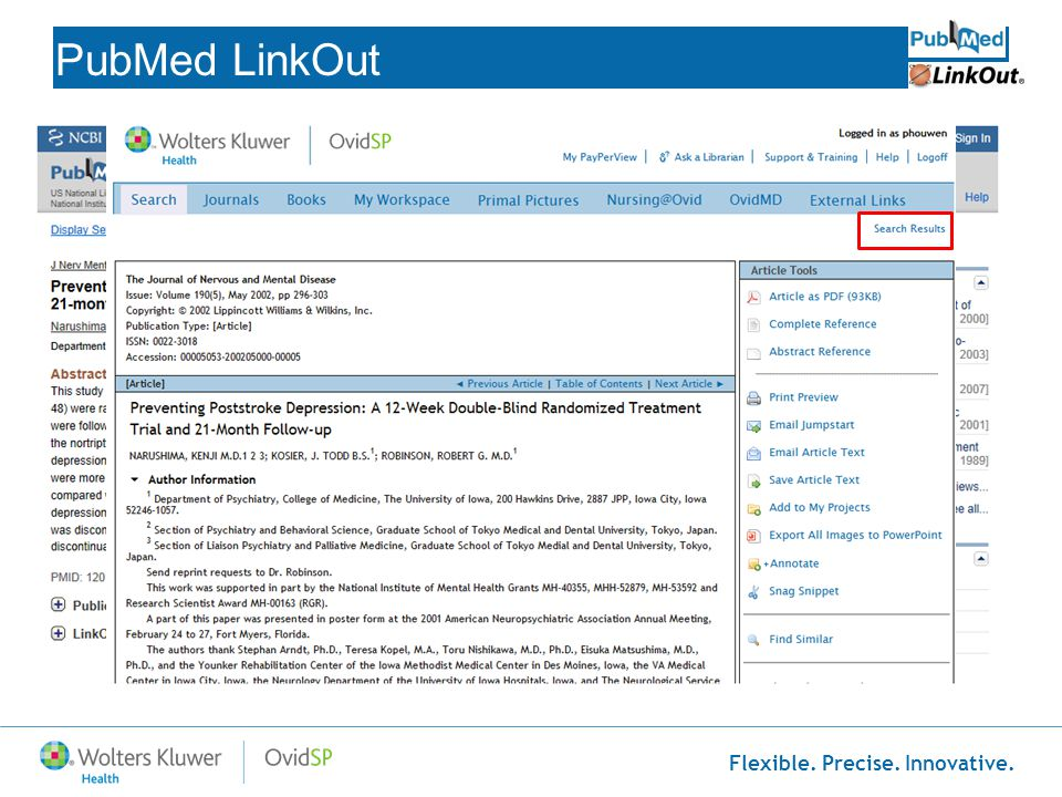 PubMed LinkOut http://www.ncbi.nlm.nih.gov/pubmed myncbishare=mediant