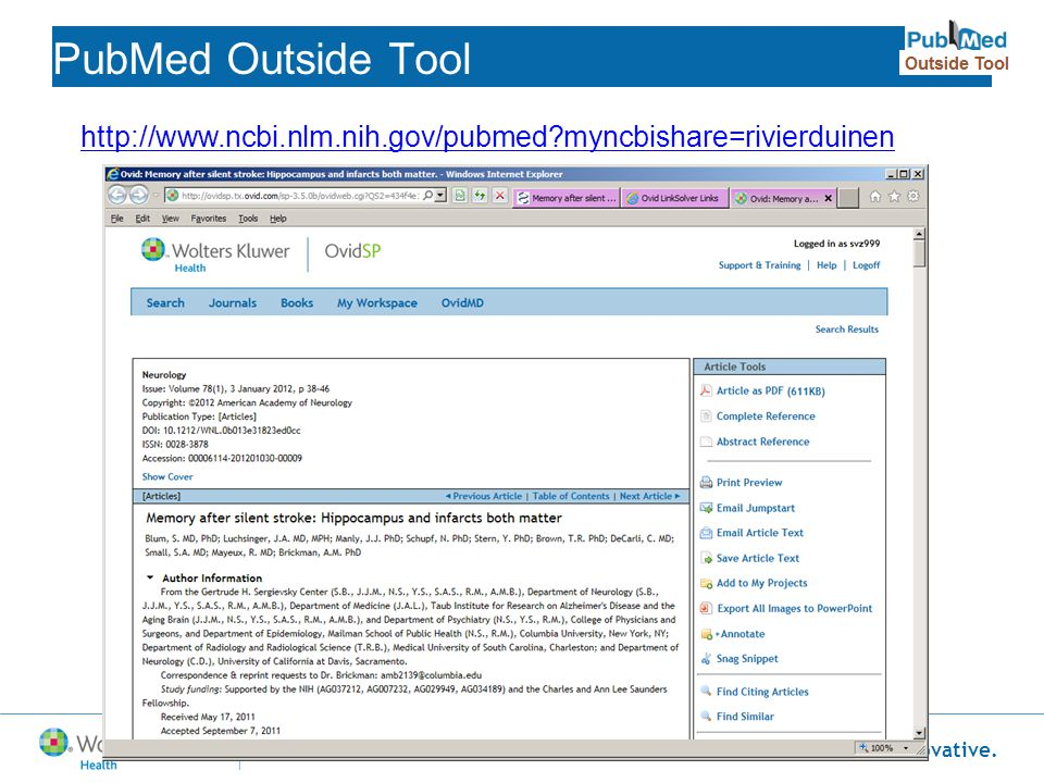 PubMed Outside Tool http://www.ncbi.nlm.nih.gov/pubmed myncbishare=rivierduinen