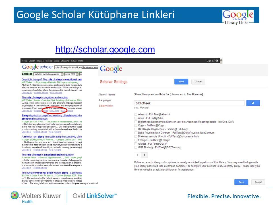 Google Scholar Kütüphane Linkleri