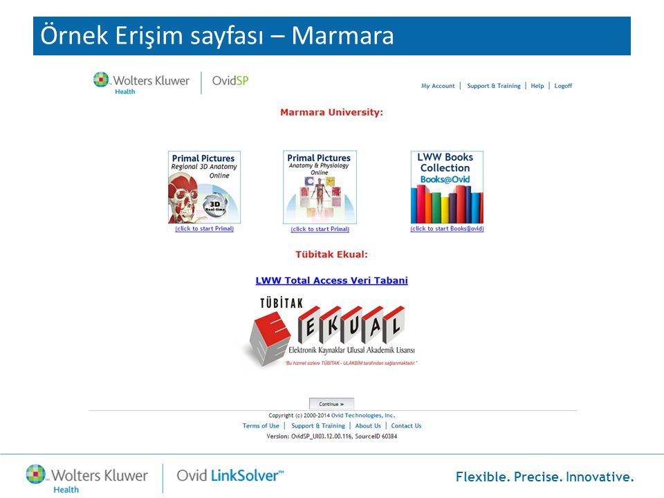 Örnek Erişim sayfası – Marmara