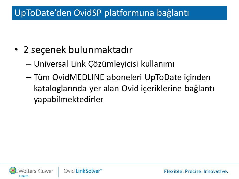UpToDate'den OvidSP platformuna bağlantı