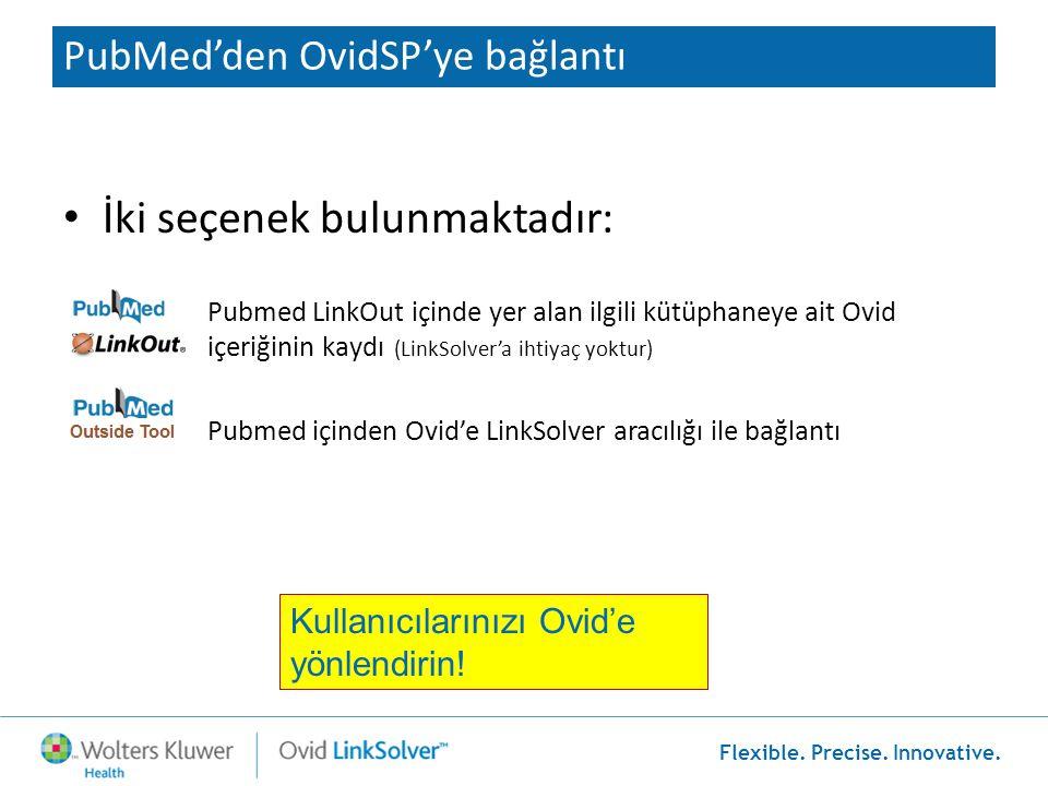 PubMed'den OvidSP'ye bağlantı