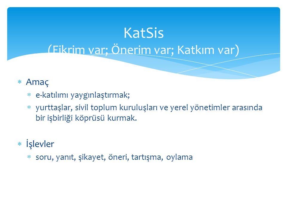 KatSis (Fikrim var; Önerim var; Katkım var)