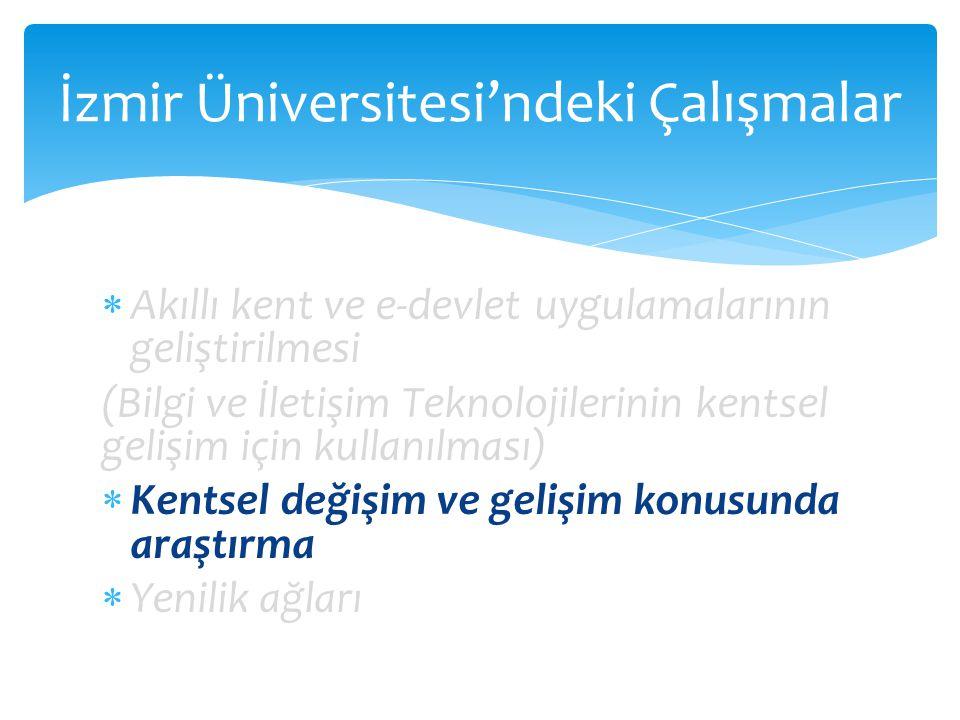 İzmir Üniversitesi'ndeki Çalışmalar