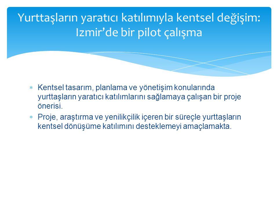 Yurttaşların yaratıcı katılımıyla kentsel değişim: Izmir'de bir pilot çalışma
