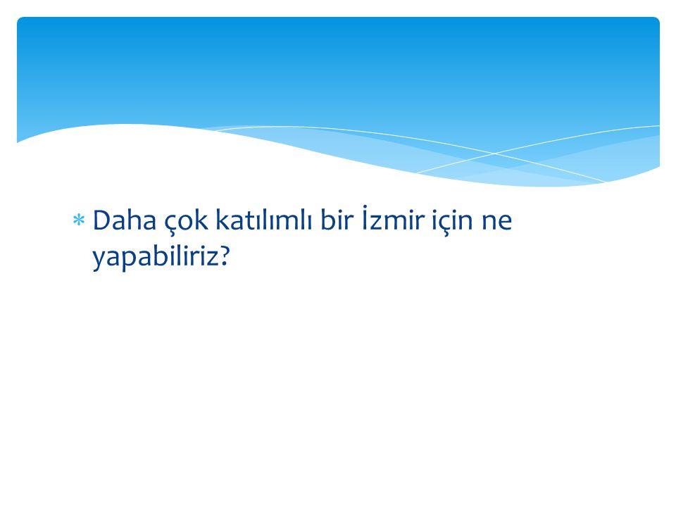 Daha çok katılımlı bir İzmir için ne yapabiliriz