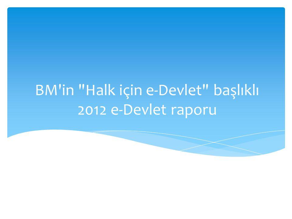 BM in Halk için e-Devlet başlıklı 2012 e-Devlet raporu