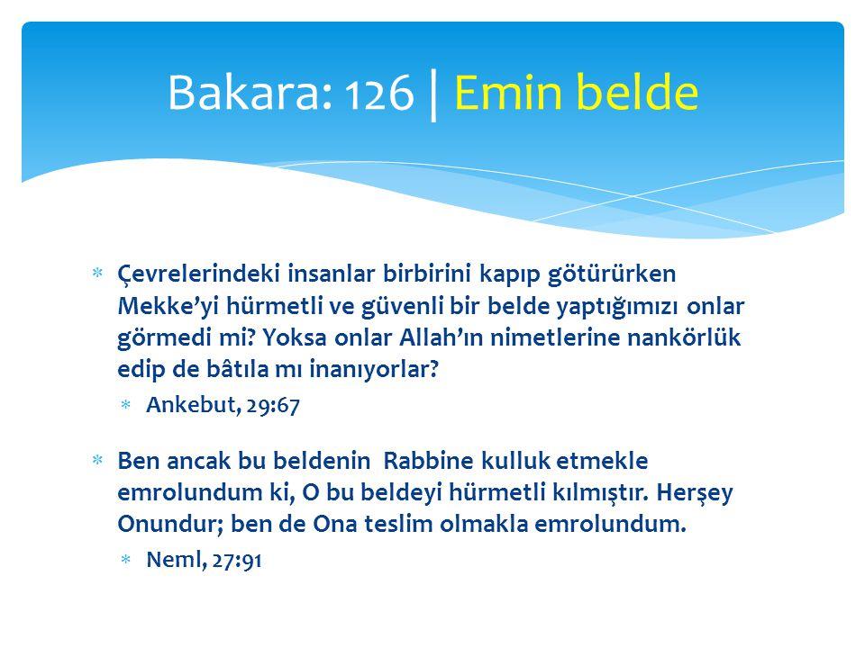 Bakara: 126 | Emin belde