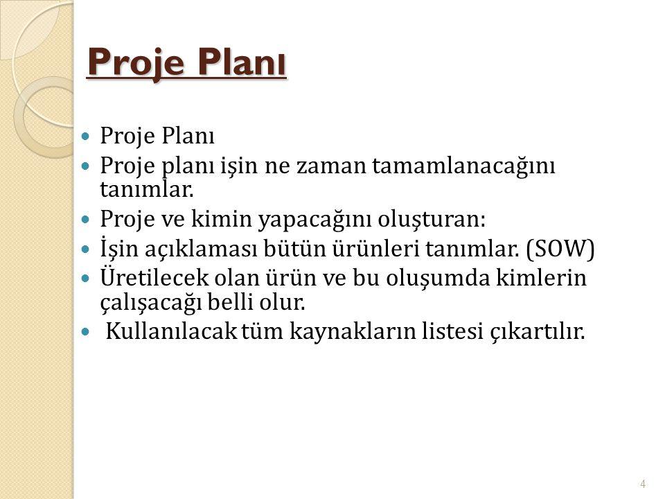 Proje Planı Proje Planı
