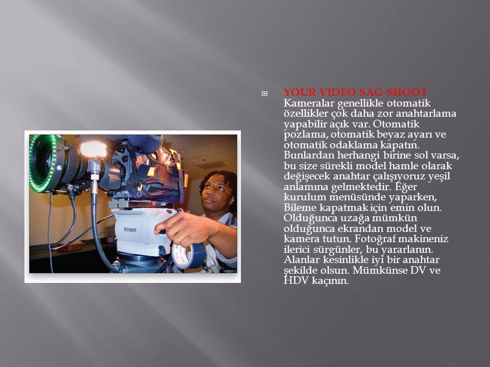 YOUR VIDEO SAĞ SHOOT Kameralar genellikle otomatik özellikler çok daha zor anahtarlama yapabilir açık var.