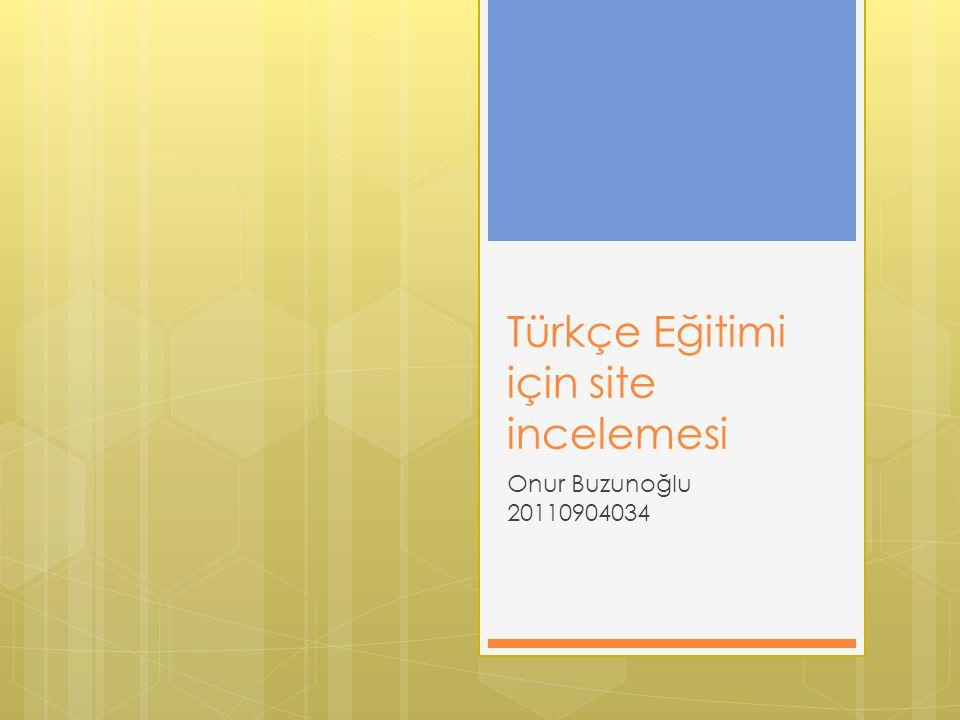Türkçe Eğitimi için site incelemesi