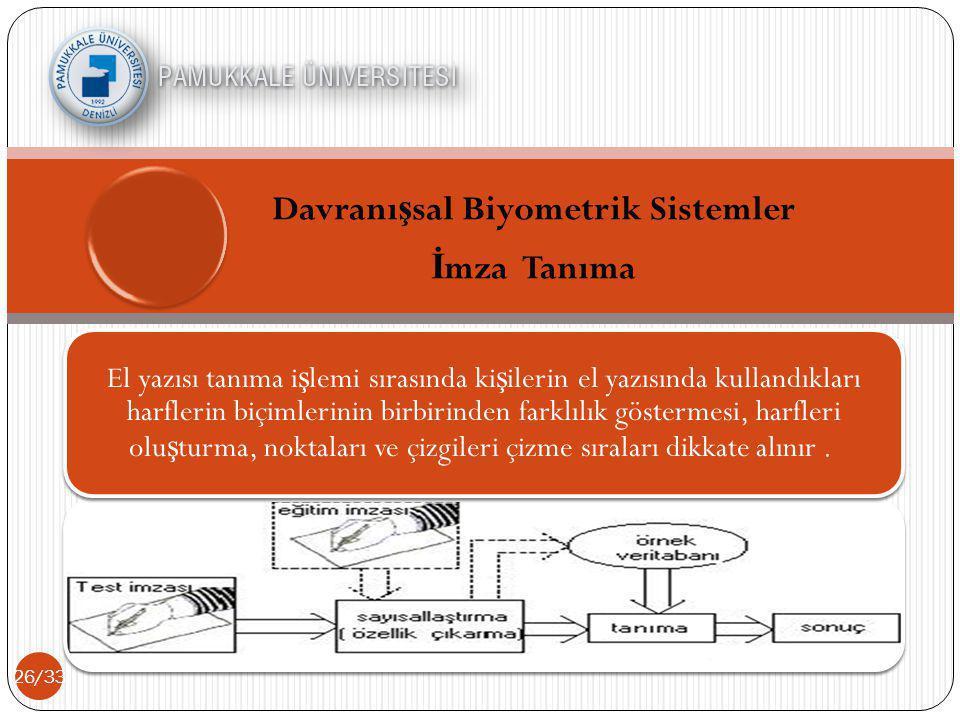 Davranışsal Biyometrik Sistemler