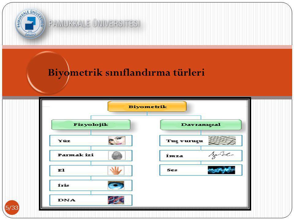 Biyometrik sınıflandırma türleri