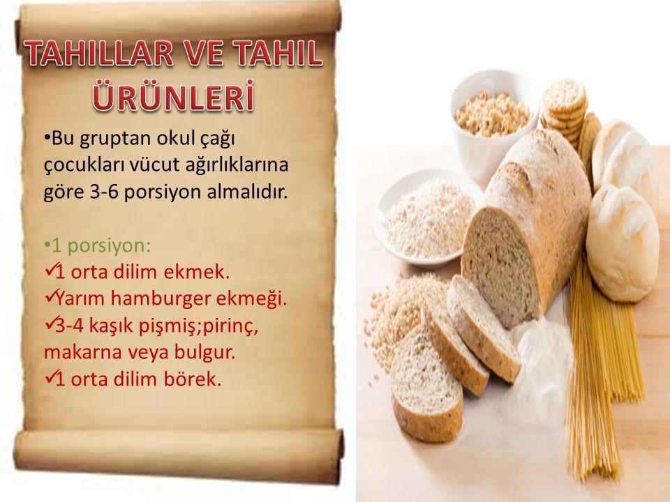TAHILLAR VE TAHIL ÜRÜNLERİ