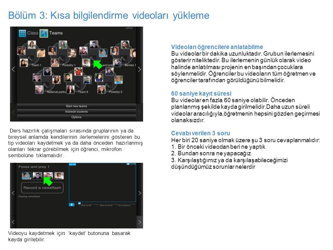 Bölüm 3: Kısa bilgilendirme videoları yükleme