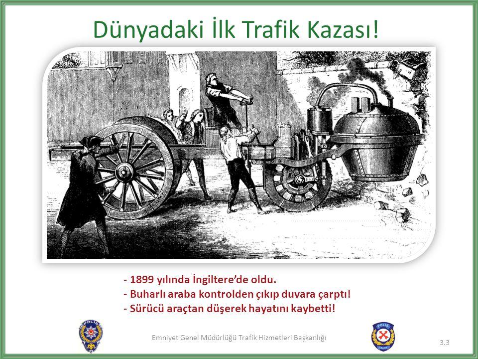 Dünyadaki İlk Trafik Kazası!