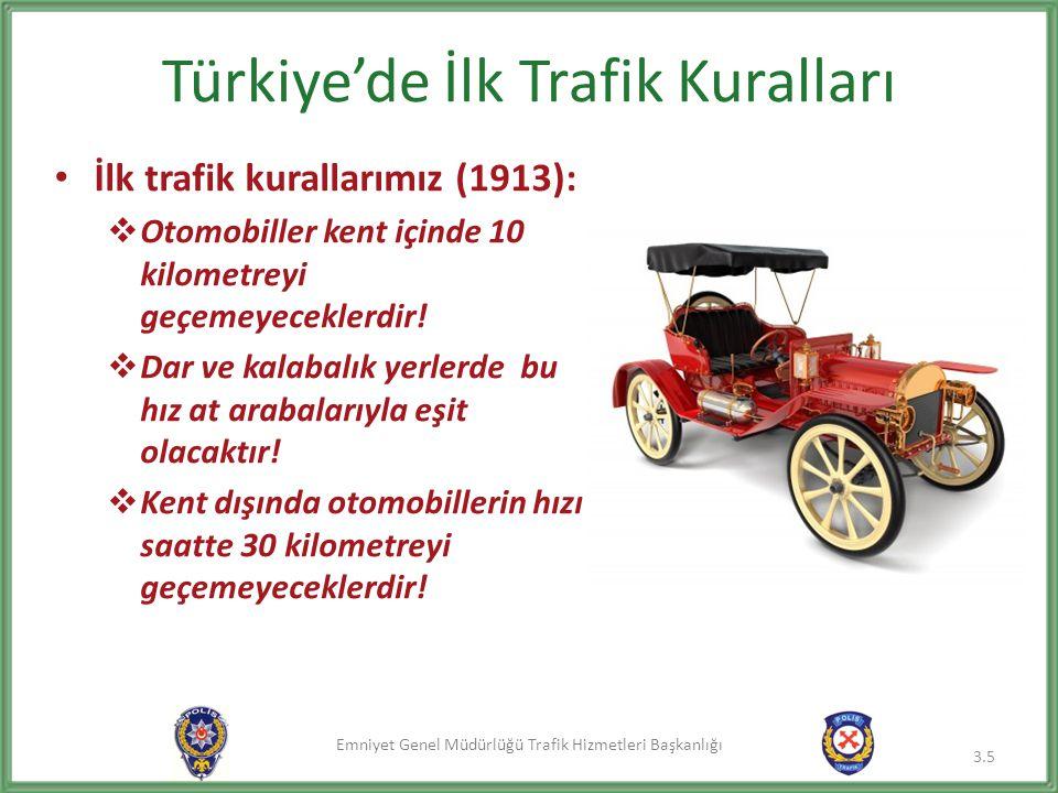 Türkiye'de İlk Trafik Kuralları