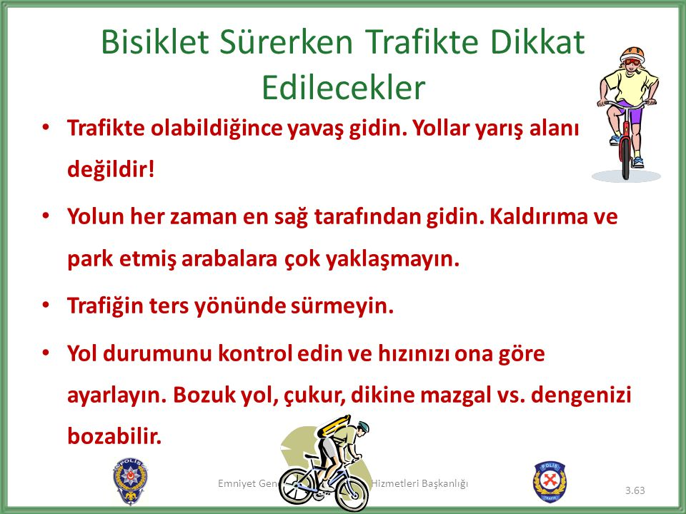 Bisiklet Sürerken Trafikte Dikkat Edilecekler