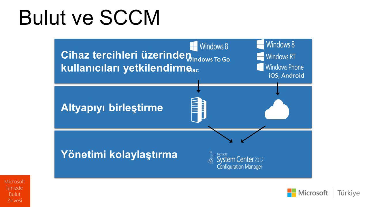 Bulut ve SCCM Cihaz tercihleri üzerinden kullanıcıları yetkilendirme