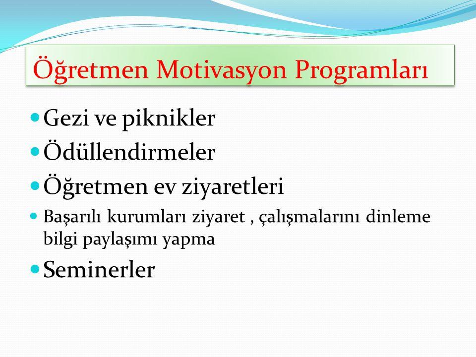 Öğretmen Motivasyon Programları